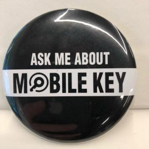 "Buttons – ""Ask Me About Mobile Key"" – 1 inch"
